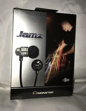 New Monster JAMZ High Performance In-Ear Headphones &Protective Pouch Sealed Box