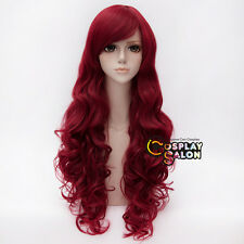 Red 80CM Long Curly Batman Poison Ivy Women Ladies Anime Daily Cosplay Party Wig