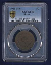 MEXICO ESTADOS UNIDOS  1916  5 CENTAVOS COIN, CERTIFIED PCGS XF-45, BETTER DATE