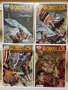 GODZILLA: GANGSTERS & GOLIATHS #1 2 3 4 NM 2011 IDW COMICS SET LOT