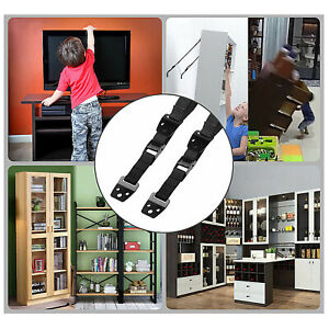 Anti-Tips Tipping Over Straps Wall/Furniture Flat Screen TV Saver Child Safety