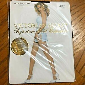 Victoria's Secret Signature Gold Collection Sheer Seduction Black Medium