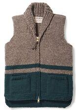 Filson Handmade Blanket Stripe Cowichan Vest Gray Teal, Women's M NWT MSRP $450