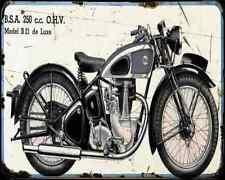 Bsa B21 01 A4 Metal Sign Motorbike Vintage Aged