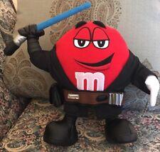 "New M&M's Star Wars Chocolate Mpire Red as Anakin Skywalker Plush 12"" NWT #ZZ"