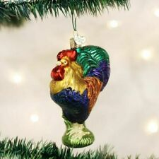 Old World Christmas Ornament Heirloom Rooster Owc16092 Glass