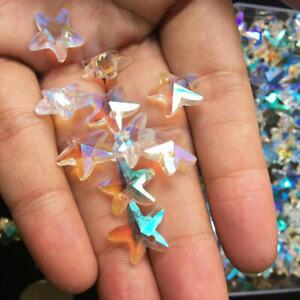 30PC Rainbow Aurora Star Crystal Pendant Faceted Prism Chandelier Suncatcher