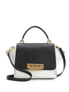 "ZAC POSEN two tone black white ""Eartha"" bag with strap RRP$750"