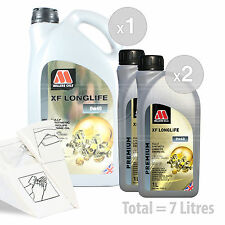 Car Engine Oil Service Kit / Pack 7 LITRES Millers Oils XF LONGLIFE 0w-40 7L