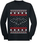 Cool Gothic Bats Ugly Christmas Sweater Youth Kids Long Sleeve T-Shirt Gift