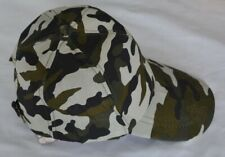 Cream, brown and green camouflage baseball cap, small size