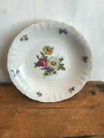 "Winterling Fine China Flower Garden Gold Trim Bavaria Germany 7 3/4"" Soup Bowl"