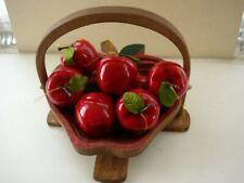 Beautiful, Wooden, Handcrafted Folding Apple Basket