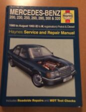 Mercedes-Benz 200, 230, 250, 260, 280, 300, 320 1985 to August 1993
