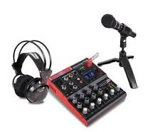 Dj Tech STUDIOPACK702 Full Digital Recording Studio Kit W/7-channel Mixer W/usb