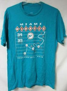 """Miami Dolphins Men's Size 5X-large """"Miami Miracle"""" Short Sleeve T-Shirt A1 4389"""