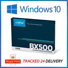 ⭐ 120GB Windows 10 Pro Crucial BX500 SSD Hard Drive 2.5 SATA ✅ GENUINE Licence