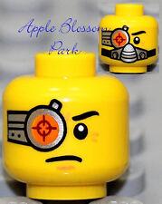 NEW Lego Cyborg MINIFIG HEAD Galaxy Squad w/Silver Breathing Mask Orange/Red Eye