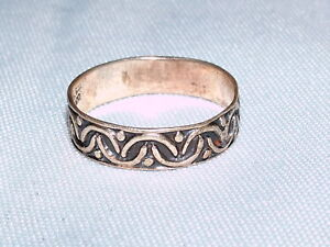 VINTAGE JEWELRY MEXICO  OVER UNDER DESIGN SILVER RING