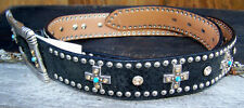 Western Belt (Ladies) - Black with Crosses (Size Large)