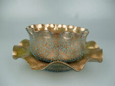 Salviati Copper Aventurine & Granzioli Finger Bowl & Plate Set - Murano glass GL