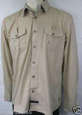 English Laundry Shirt Blaque Military Creme  EWL1276  100% Cotton