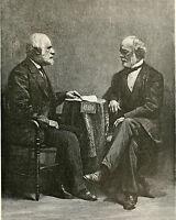 Robert E Lee & General Johnston Civil War Painting 8x10 Real Canvas Art Print