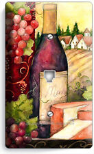 Tuscan Farm Wine Bottle Cheese Grapes Phone Telephone Cover Plates Kitchen Decor