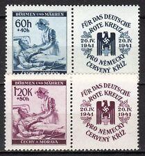 Germany / Bohmen und Mahren - 1941 Red Cross Mi. 62-63 zf MNH