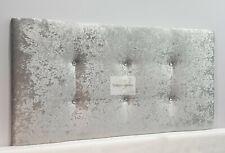 "Divan Bed Headboard 24"" | Crushed Velvet | Diamante | British Made | All Sizes"
