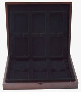 Wooden Coin Storage Presentation Display Box for PCGS NGC Graded Slabbed Coins
