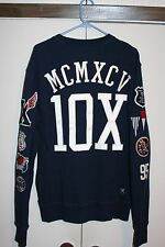 10 X Deep Sewn Sweatshirt Sailing All City State Large Multi Navy Athletic $120