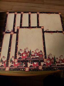 Lot Of 10 -  8.5x11 Provo Craft Christmas Santa Paper Scrapbooking