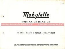 MOTOBECANE MOBYLETTE AV 75 AU : Feuilles isolées (pièces détachées) MOTOCONFORT