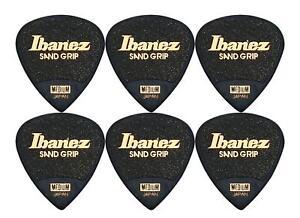 Super Ibanez PPA16MSG-BK Grip Wizard 6er Plektren Set Picks für Bühne und Studio
