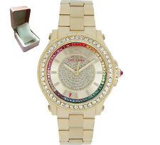 Juicy Couture 1901228 Pedigree Women's Watch Gold Dial Analogue 30% OFF RRP £140