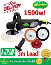 POLISHER CAR BUFFER 1500W 180MM SANDER ELECTRIC TOOLS VARIABLE SPEED 3 PADS