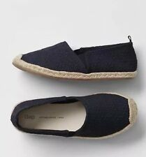 New- Gap Kids Size 13 Navy Blue Eyelet Espadrilles   Summer Beach  4th Of July