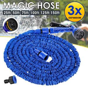 6 Sizes Pocket Expandable Hose Spray Gun Flexable Magic Water Car Garden Pipe AU