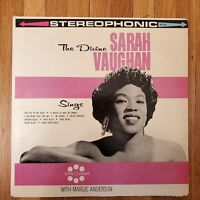 SARAH VAUGHAN The Divine Sarah Vaughan VG+ Vinyl Lp VG++ Record Cover
