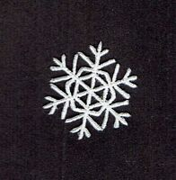 """Iron On Embroidered Applique Patch Christmas Small White Snowflake 1.25"""""""