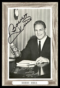Bobby Hull Autographed 1964-67 Beehive Group 3 4.5x6.5 Photo Blackhawks 176384