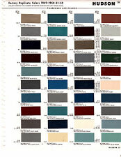 1949 1950 1951 1952 Hudson Commodore Hornet Super Wasp Pacemaker Paint Chips Ms4