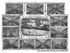 """Dresden """"Nähmaschinen-Fabrik - Seidel & Naumann"""" Original Holzstich von 1882"""