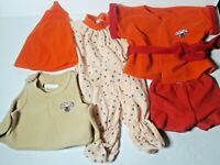 TEDDY RUXPIN Clothing Outfits Vintage Vest Sleeping Outfit Robe Pajamas