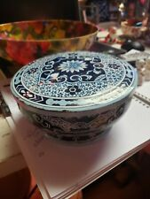 Designed By Daher Long Island Ny Tin Container Round