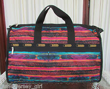 LeSportsac Large Weekender Giddy Up Duffle Travel Bag NWT