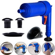 Air Drain Blaster Pressure Pump Cleaner Unclogs Toilet Plunger Set Hand Powered