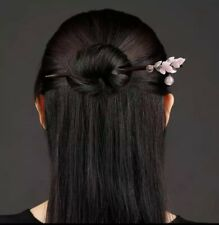 Chinese Pink Flower Hair Stick