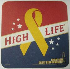 HIGH LIFE GIVE VETERANS TICKET Beer COASTER MAT Miller Milwaukee, WISCONSIN 2013